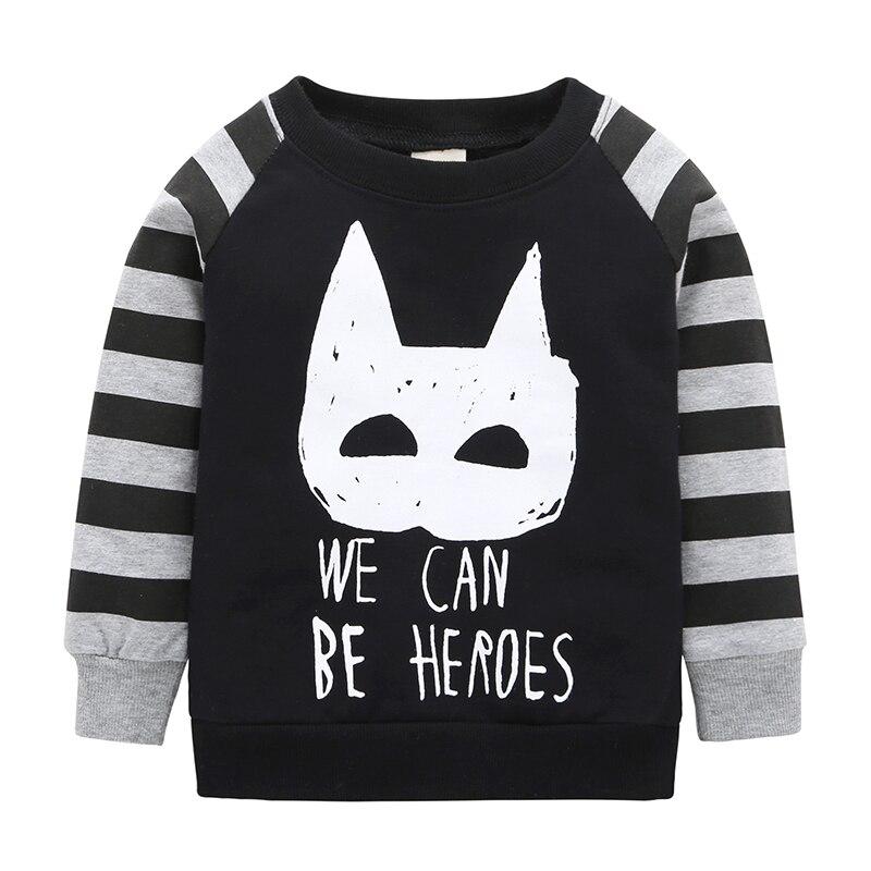2018 Promotion New Arrival T-shirt Boy Batman Baby Long Sleeved Shirt Brand 100% Cotton Girl Full Set Of Coat Free Shipping