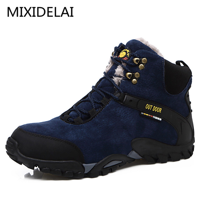 New Couple Unisex Boot Men Boots fashion Quality Winter Snow Plush Ankle Boots For Men's Warm Boots Ankle Work Shoes