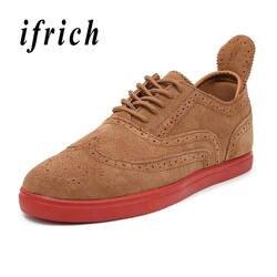 Мужские туфли на плоской подошве, коричневые, черные прогулочные туфли, мужские туфли-броги на шнуровке в британском стиле, удобные