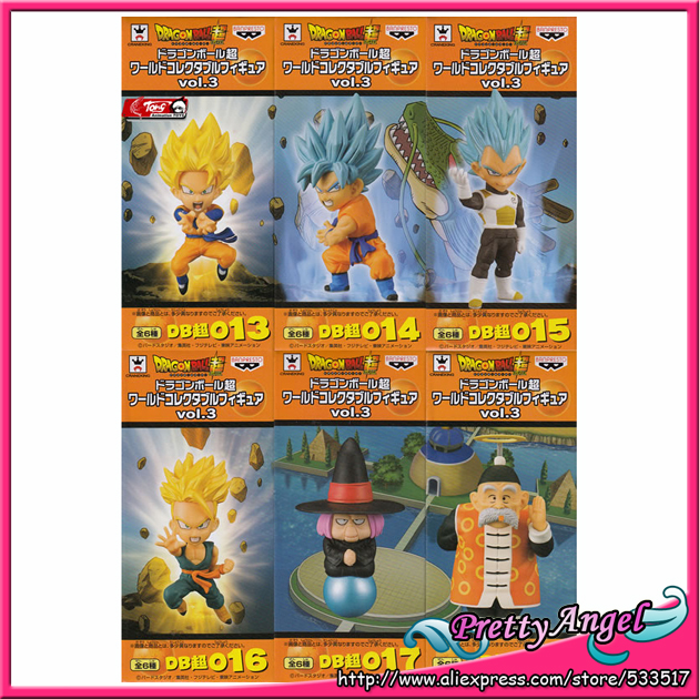 Japan Anime Original BANPRESTO World Collectable Figure / WCF Vol.3 Dragon Ball SUPER Toy Figure - Full Set of 6 Pieces original banpresto world collectable figure wcf the historical characters vol 3 full set of 6 pieces from dragon ball z