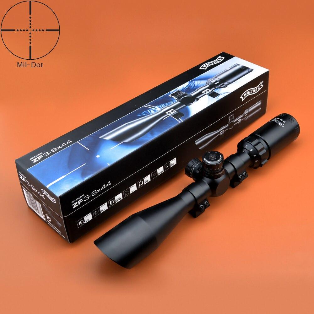 все цены на Walther Scopes Optics 3-9X44 Angled Objective Scope Hunting One piece Tube Rifle Scope Fully multi-coated optics онлайн