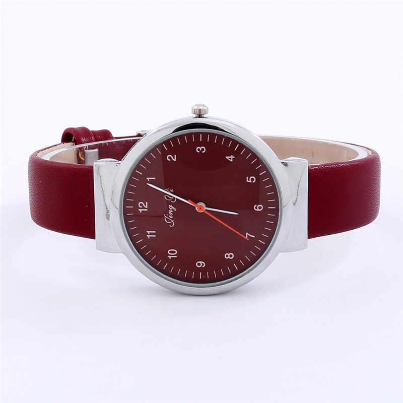 2018 Reloj Mujer Relogio feminino Moda Clássico de Aço Inoxidável Das Mulheres de Cristal Mulheres Número Romano de Quartzo Relógio de Pulso de Couro