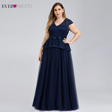 Robe Bleu Plus Size Navy Blue Evening Dresses Ever Pretty A-