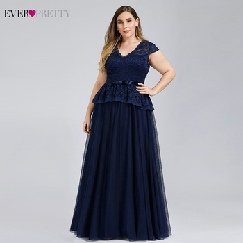 Robe Bleu Plus Size Navy Blue Evening Dresses Ever Pretty A-Line V-Neck Sashes Elegant Formal Party Dresses Vestidos Compridos navy blue satin evening dresses ever pretty ep07934nb a line v neck elegant formal long dresses vestidos de fiesta de noche 2020
