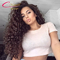 7A Thick Density 150% Curly Human Hair Full Lace Wig Peruvian Virgin Hair Glueless Lace Front Curly Hair Wigs For Black Women