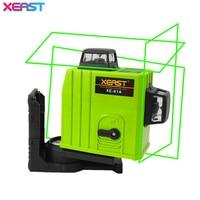 XEAST XE 61A 12 Line Green Laser Level 360 Self Leveling Cross Line 3D Laser Level