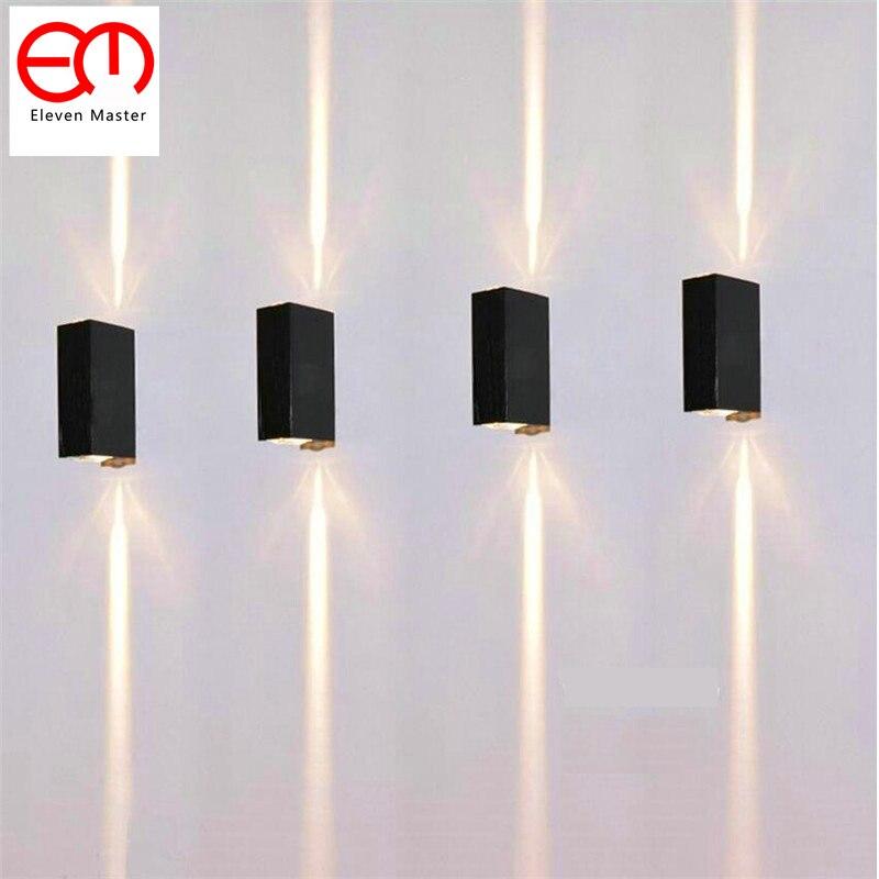 2 Faisceau Étroit LED Étanche Lampe De Mur Extérieur IP65 En Aluminium Up et Éclairage Vers Le Bas 2x3 W COB Porche jardin Lumières ZBD0020