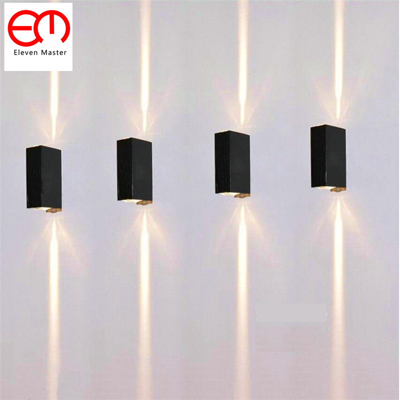 2 Narrow Beam LED Waterproof Wall Lamp Outdoor IP65 Aluminum Up and Down Lighting 2x3W COB Porch Garden Lights ZBD0020 3 narrow beam indoor wall effect light led architectural facade lighting 3 emission led wall sconce ac90 260v input decoration