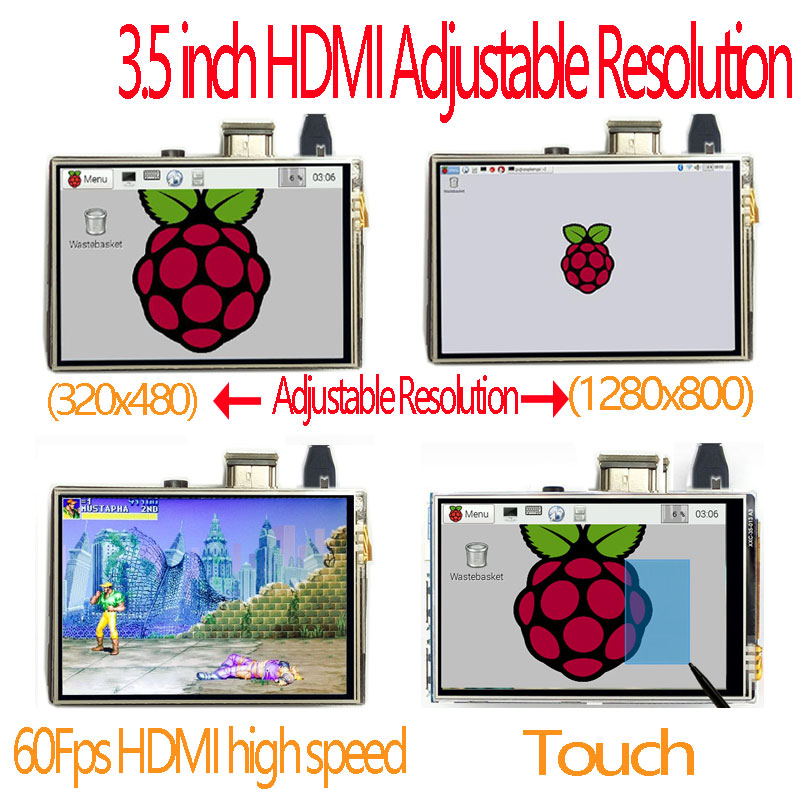 US $17 91 10% OFF|raspberry pi 3 5 inch hdmi LCD touchscreen touch screen  60 fps high speed 3 5inch better than 5 inch and 7 inch-in Demo Board from