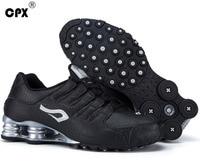 Original CPX mens Shox Tech Crocodile pattern Leather sneaker zapatillas deportivas hombre athletic outdoor sports running shoes