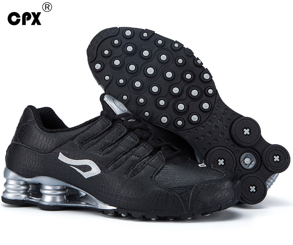 Original CPX mens Shox Tech Crocodile pattern Leather sneaker zapatillas deportivas hombre athletic outdoor sports running shoes 2017 running shoes men sneakers for men sport zapatillas deportivas hombre free run sneaker mens runners china wear resistant