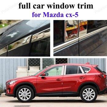 Декоративные полосы для M-azda CX-5, полностью обшивка окна автомобиля с колонной, автомобильные аксессуары из нержавеющей стали, автомобильный...