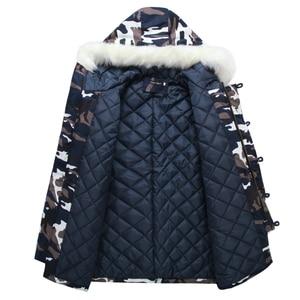Image 3 - Camouflage Down Parkas Jackets  2020 Mens Parka Hooded Coat Male Fur Collar Parkas Winter Jacket Men Military Down Overcoat