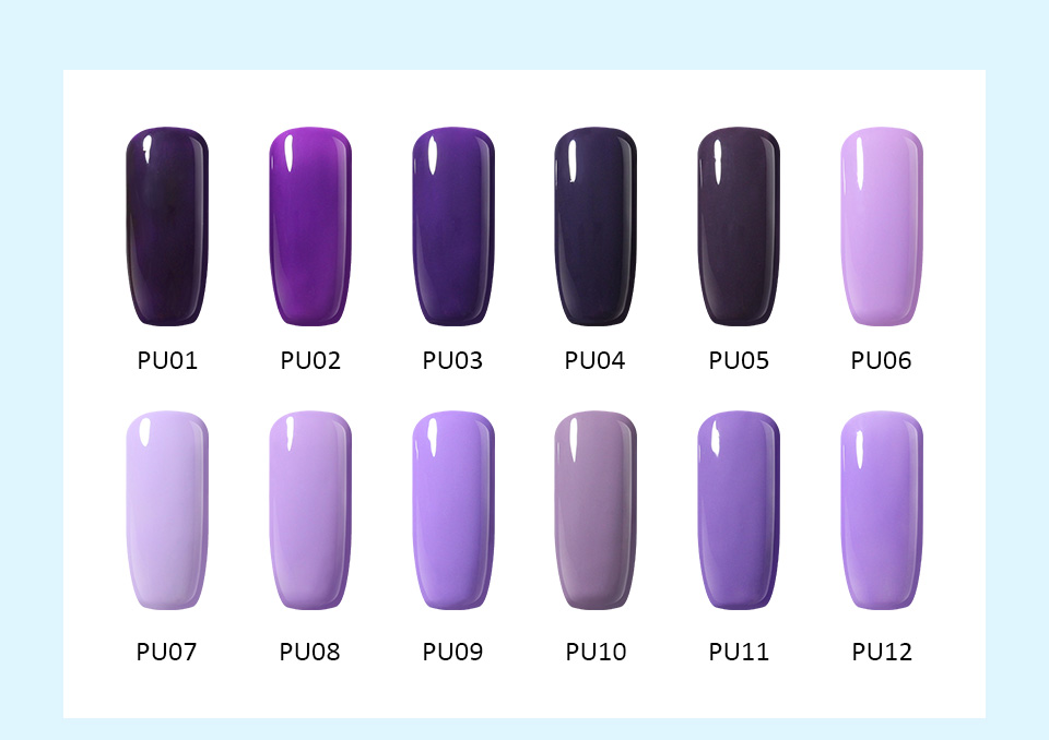 UV nail gel polish Light purple color french manicure lacquer nail ...