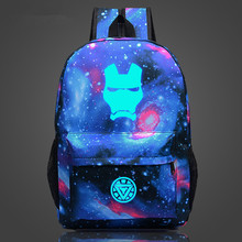 Iron Man Printed Nylon Backpack