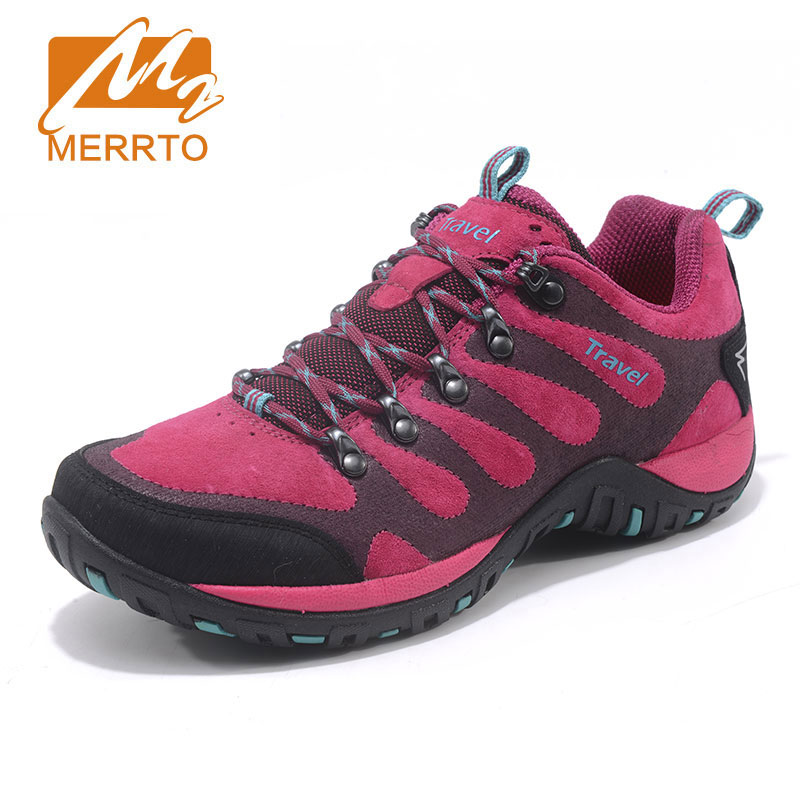 MERRTO Women Outdoor Hiking Climbing Shoes Breathable Anti Skid Wear Walking Sneaker Mountain Camping New Popular Sport Shoes 2018 merrto womens walking shoes non slip breathable outdoor sport shoes for women color red purple grey free shipping mt18631