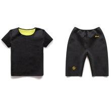 1setSport Running Vest Slimming Reduction Shape Bodysuits T-Shirt Fitness Gym Sauna Muscular Development Weight Loss Fat Burning