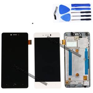 """Image 2 - 5.0"""" for BQ Aquaris U Lite LCD + touch screen digitizer assembly replaced with for BQ Aquaris U display repair parts with frame"""