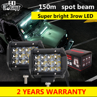 36W Led Work Light Bar 4Inch Cree Chip 3D Lens Waterproof Car Daytime Running Lights For