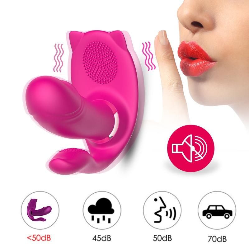 G Spot Wearable Vibrating Panties Dildo Vibrator Clitoris Stimulator Pussy Massage Invisible Vibrating Egg Sex Toys for Women in Vibrators from Beauty Health
