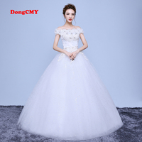 2017 New Arrival Long White Color Ball Gown Bandage Wedding Dress