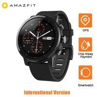Xiaomi Huami Amazfit Smartwatch 2 секундомера gps 5ATM Водонепроницаемый Bluetooth Smart Часы Анти потерянный для IOS Android английский ver
