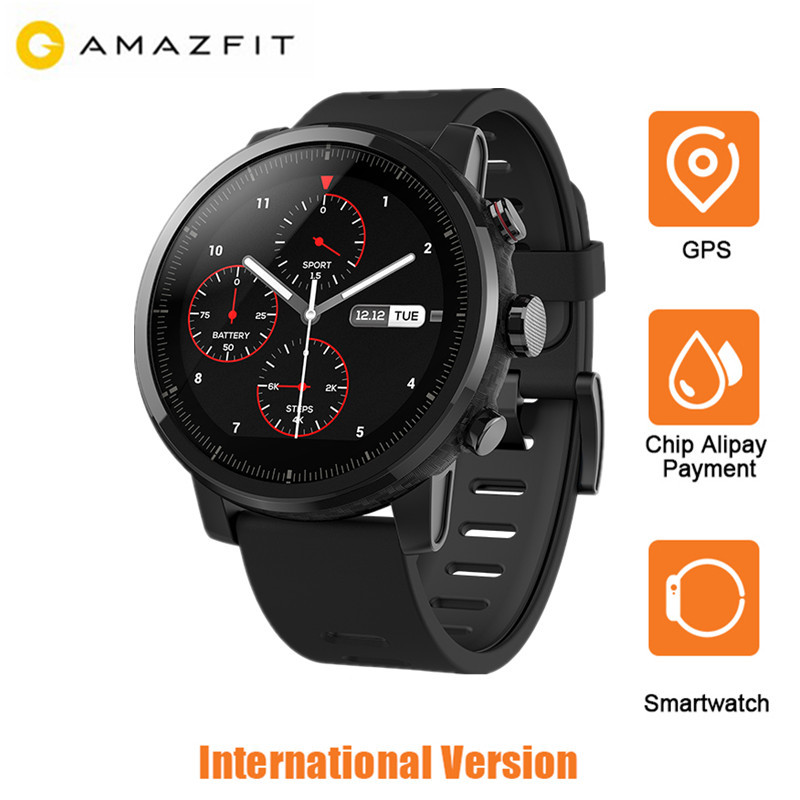 Xiaomi Huami Amazfit Smartwatch 2 Montre Running GPS 5ATM Étanche Bluetooth Montre Intelligente Anti-Perdue Pour IOS Android Anglais ver