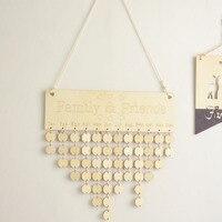 Деревянный семейный и календарь друзей креативный деревянный настенный календарь на день рождения в скандинавском стиле современная дома...