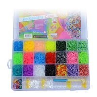 4200Pcs Rubber Bands To Weave Bracelet Gum Rezinochki For Plaiting eavingel Wastic Band Girl Hair Accessories Machine set