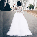 Romantic Long Bridal Skirt 2 Pieces Wedding Party Dress Women Long Tulle Skirt Wedding Skirt Middle East Saudi Arabia Vestido De