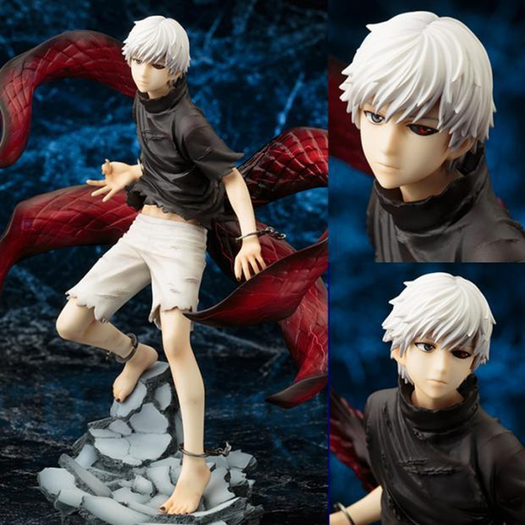 Kotobukiya Limited Edition of Collectibles Gift Tokyo Ghoul Action Figure Anime Mask Ken Kaneki Melanism Model Toy 22cm anime tokyo ghoul mask cosplay figure kaneki ken action figure brinquedos party adjustable zipper prop juguetes hot kids toys