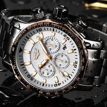 Relogio LIGE Luxury Sport Men Watches Waterproof Outdoor Big Dial Quartz Chronograph Sport Watch Male Clock erkek kol saati+Box цена и фото