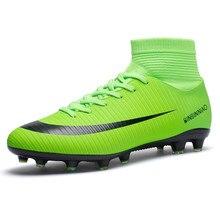 Купить с кэшбэком FANCIHAWAY Size35-45 High Ankle Soccer Shoes AG Football Men Turf Boots Superfly New TF Professional Futsal Soccer Cleats Women