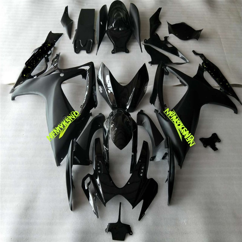 Mold <font><b>Fairing</b></font> <font><b>kit</b></font> for SUZUKI GSXR600 750 K6 06 <font><b>07</b></font> SUZUKI black <font><b>GSXR</b></font> <font><b>600</b></font> GSXR750 2006 2007 matte black <font><b>Fairings</b></font> set image