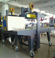 Carton Taping Sealer Side Drive Top Bottom One Stop Sealing Semi Automatic Box Case Tape Machinery