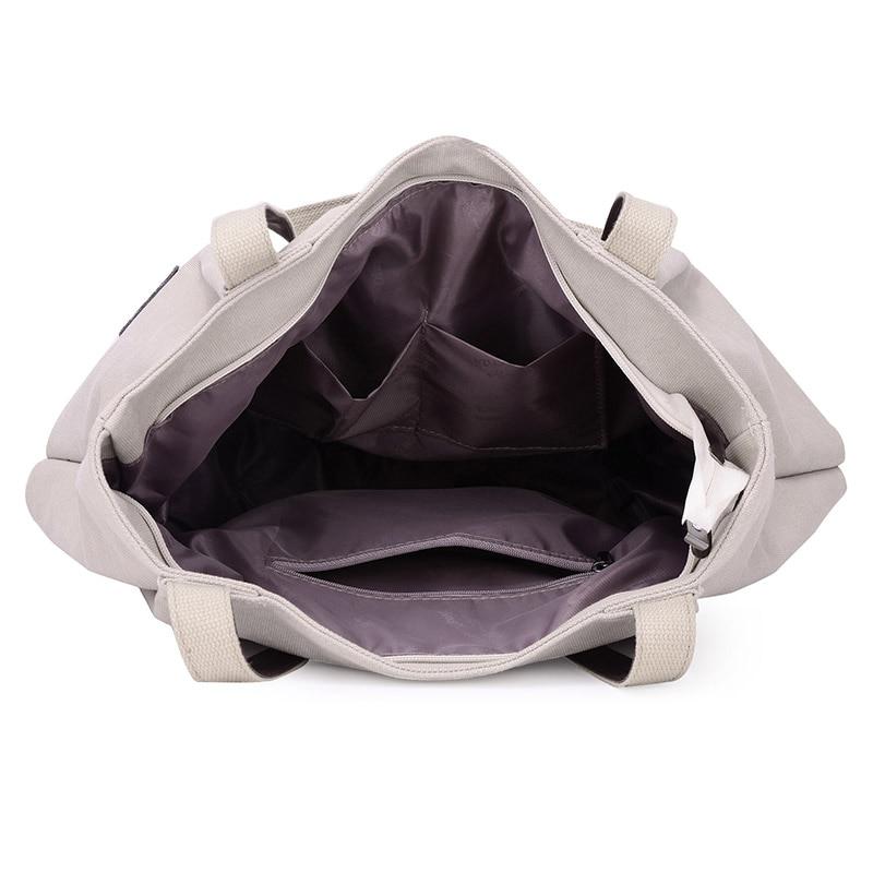 Bolsa de asas de lona de moda bolso de las mujeres bolsas de hombro - Bolsos - foto 5