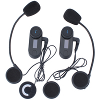 2Pcs Upgrade New Version Motorcycle Helmet Intercom Bluetooth Interphone Intercom Headsets Bluetooth With LCD Screen FM