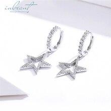 inbeaut Hot Sale 100% 925 Sterling Silver White Cubic Zirconia fit Pandora Bracelet Star Charms Korean Bangle Beads DIY Jewelry