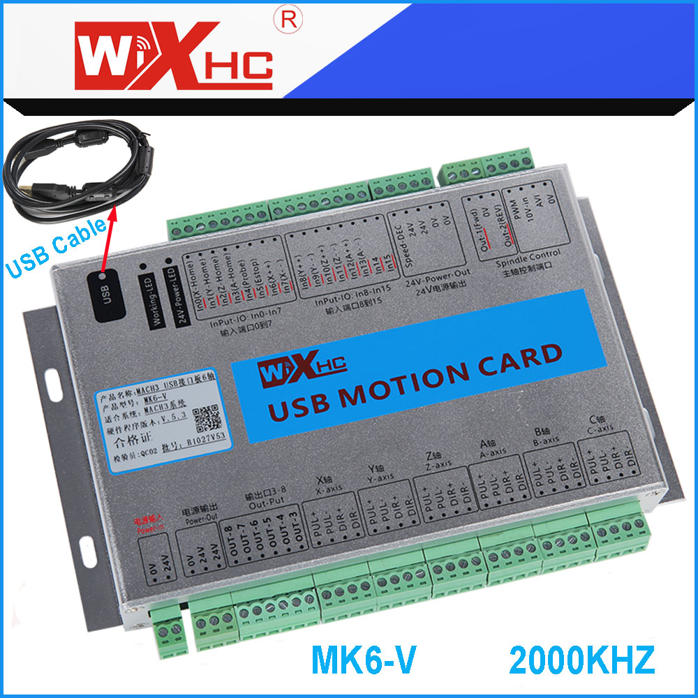 4 Axis Cnc Controller Replace Mach3 Usb Control Drilling Panel Wiring 6 Machine Used Motion Card Breakout Board