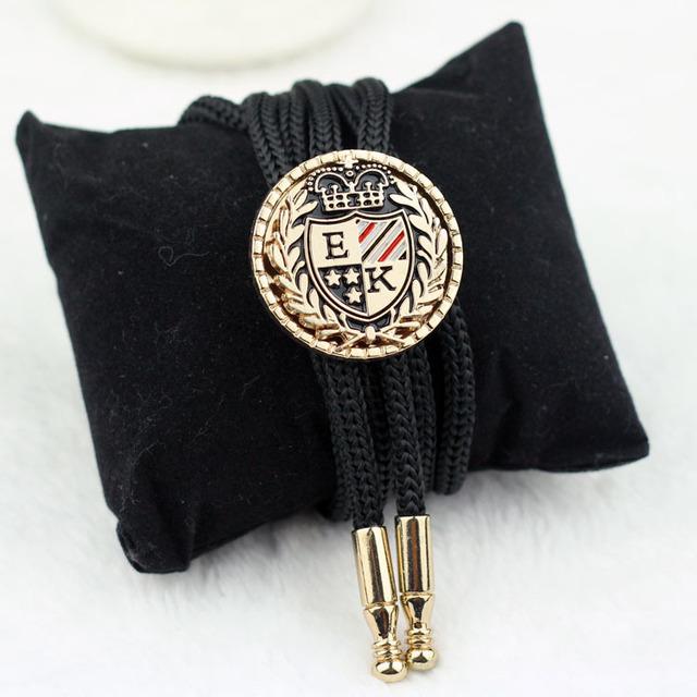 SHENNAIWEI High-grade gravatas laço gravata de bolinhas acessórios de Metal Ajustável corda colar de mulheres e homens laços