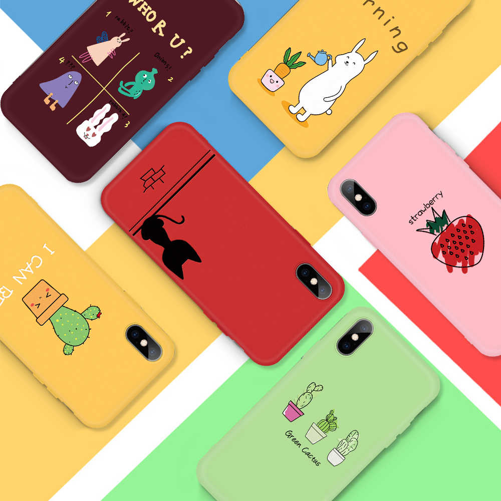 Fashion Heart Phone Case For iPhone X 8 7 6 6S Plus 5 5S SE Xs Max Xs Xr Soft Silicone Cactus Case For iPhone X 8 7 6 6S 5 5S SE