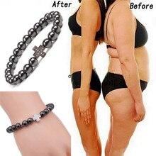 Cross Sport Fitness Hematite Bracelet Weight Loss Charm Magnetic Health Bracelet