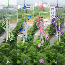 1PC New Pastoral Dolphin Heart Windchime Acrylic Yard Garden Outdoor Living Plastic Wind Chimes for Outdoor Living Room KN 042