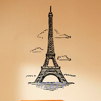 Eiffel Tower Wall Decal Vinyl Stickers Paris Symbol Home Interior France Design Art Murals Bedroom Wall