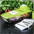 Mandoline Slicer Cortador de Legumes Manual com 5 Lâminas de Batata Ralador de Cenoura para Cebola Vegetal Slicer Da Cozinha Acessórios