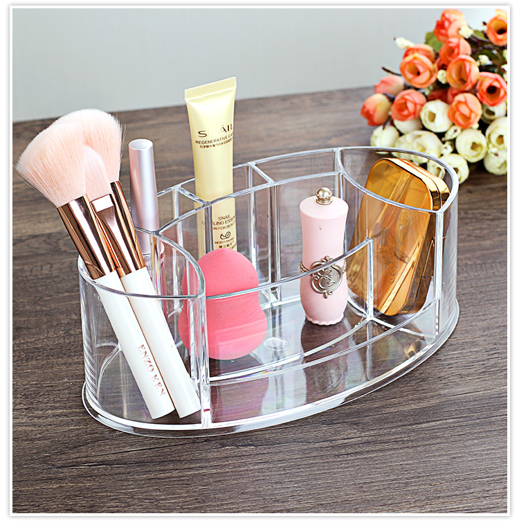 Tabletop Transparent Makeup Organizer Made of Acrylic for Storage of Lipstick Makeup Brush Nail Polish and Cosmetics of Women 8
