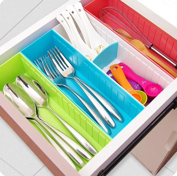 Multifunctional Plastic Drawer Storage Finishing Grid Socks Underwear Organizer Kitchen Cabinet Storage Box