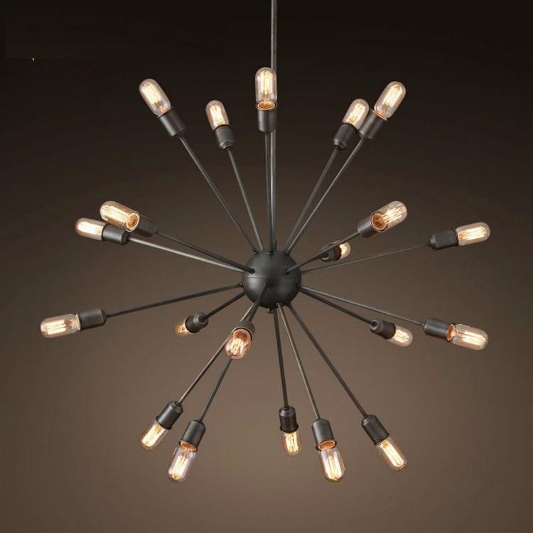 American vintage iron spark ball pendant light fixture home deco dining room DIY retro E27 Edsion bulb pendant lamp AC 110-240V zg9046 pendant light ac 110 240v