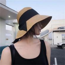 Новая Складная Солнцезащитная пляжная шляпа для рыбаков соломенная