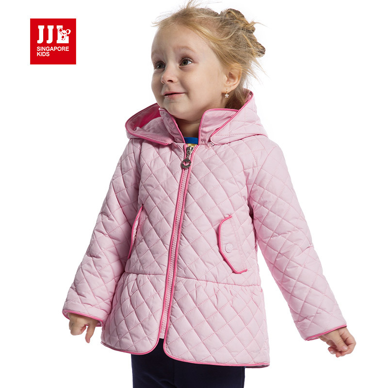 baby girls long coat hooed jacekt winter padded newborn christmas outwears warm windproof baby clothing